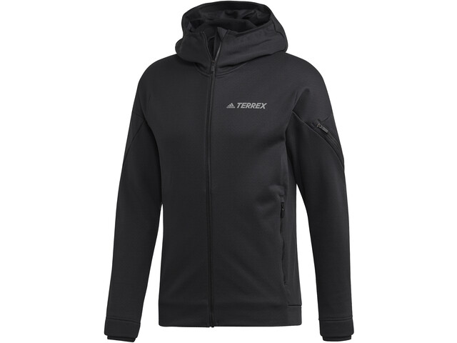adidas TERREX Climaheat Chaqueta polar con capucha Hombre, black
